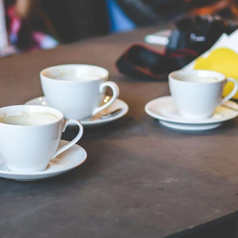 dirty coffee cups that need cleaning
