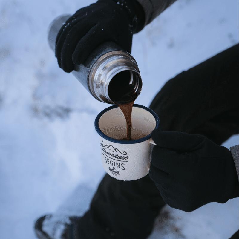 coffee on the ski slopes