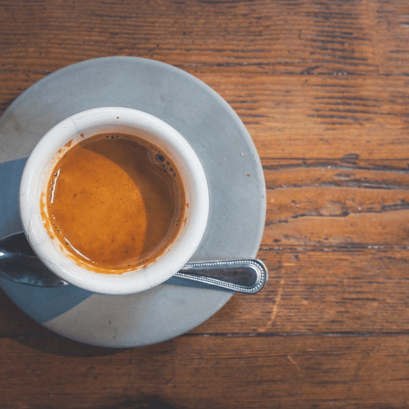 espresso with spoon